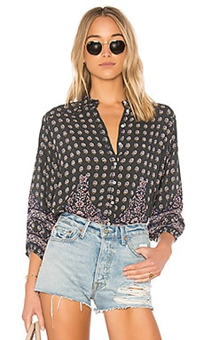 AUGUSTE Gypsy Girl Button Up in Charcoal