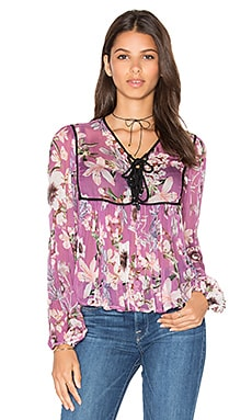 Boho Is Best Sheer Top en Prune