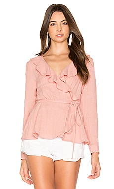 Harvey Wrap Top in Blush