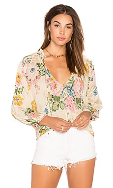 Delilah Boho Blouse in Delilah Bloom Natural