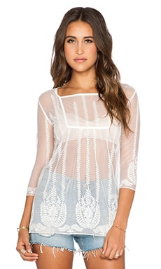 AUGUSTE Barely There Boho Top in Gypsy Lace