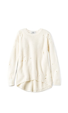 Distressed High Low Sweater