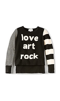 Love Art Rock High Low Sweater