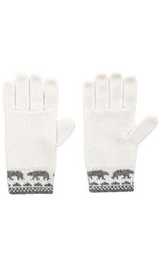 Autumn Cashmere Fairilse Gloves in Nickle & Vanilla