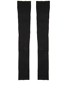 Autumn Cashmere Ribbed Arm Warmers in Black