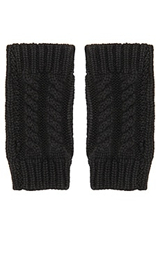 Autumn Cashmere Cable Hand Warmers in Black