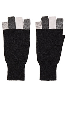 Multi Fingerless Glove in Lead Multi