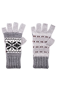 Fairisle Fingerless Gloves Autumn Cashmere $31