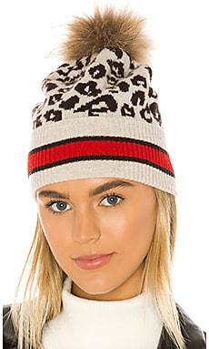 Sporty Leopard Pom Pom Hat Autumn Cashmere $128 BEST SELLER