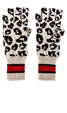 Sporty Athletic Leopard Fingerless Gloves Autumn Cashmere $48