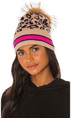Sporty Leopard Hat with Pom Pom Autumn Cashmere $128 BEST SELLER