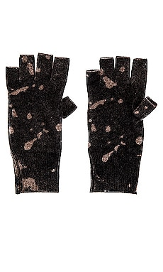 Inked Splatter Print Fingerless Gloves Autumn Cashmere $118