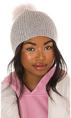 Beanie With Contrast Fur Pom Pom Autumn Cashmere $77