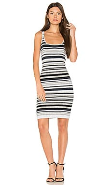Rib Stripe Mini Dress