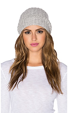Autumn Cashmere Hand knit Bag Hat in Fog