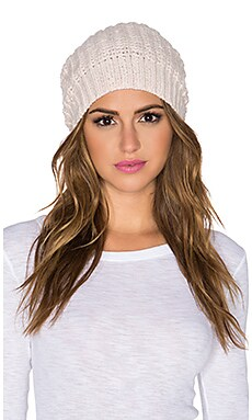 Autumn Cashmere Hand knit Bag Hat in Powder Pink