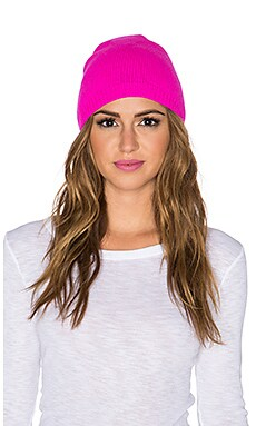 Autumn Cashmere Asymmetric Bag Hat in Barbie