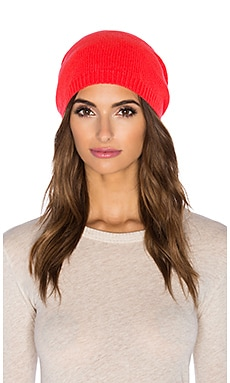 Autumn Cashmere Asymmetric Bag Hat in Solar Flare