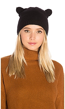 Cat Ear Beanie in Ebony