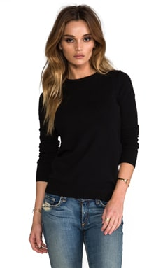 Autumn Cashmere Crew in Black