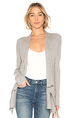 Ribbed Drape Cardigan in Sweatshirt