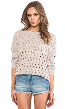 Open Stitch Hi Low Boatneck Sweater