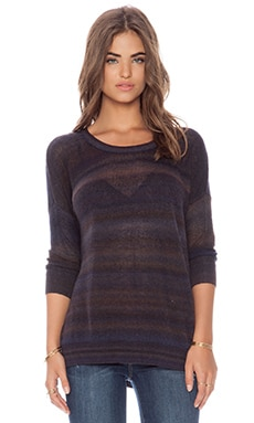 Autumn Cashmere Mesh Space Dye Sweater in Dewni