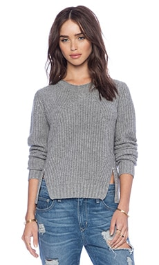Autumn Cashmere Shaker Stitch Sweater in Cement