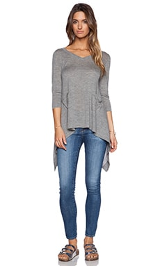 Autumn Cashmere Tie Back Sweater in Rock