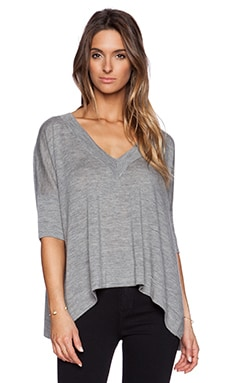 Autumn Cashmere Hanky Hem Sweater in Rock