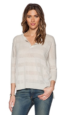 Autumn Cashmere Henley Sweater in Hemp