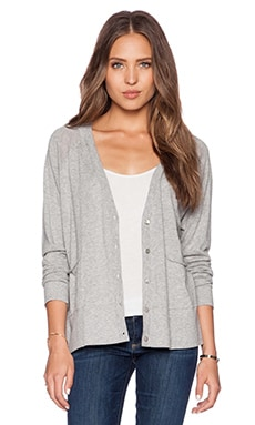 Autumn Cashmere Boxy Cardigan in Sweatshirt