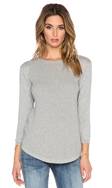 Autumn Cashmere Thermal Stitch Crew Sweater in Sweatshirt