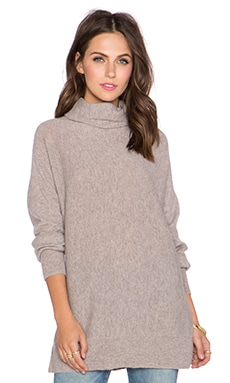 Dolman Scrunch Neck Sweater