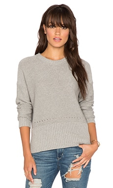 Autumn Cashmere Boxy Crew Sweater in Sweatshirt