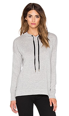 Autumn Cashmere Crisscross Back Hoodie Sweater in Fog