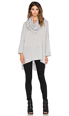 Autumn Cashmere Oversize Convertible Cowl Sweater in Fog