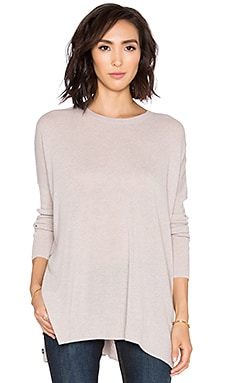 Autumn Cashmere Solid Side Button Rectangle Sweater in Bone