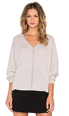 Autumn Cashmere V Neck Dolman Sweater in Bone