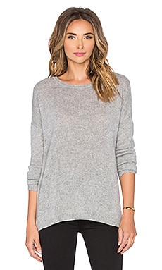 Autumn Cashmere Side Slit Sweater in Sweatshirt