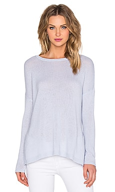 Autumn Cashmere Side Slit Sweater in Whisper Blue