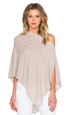Autumn Cashmere Cropped Poncho in Bone