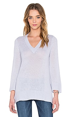 Bell Sleeve V Neck Sweater in Vapor