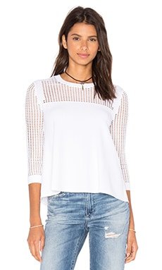 Autumn Cashmere Swing Cut Out Sweater in White