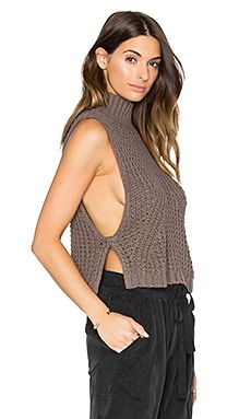 Turtleneck Sleeveless Sweater en Rye