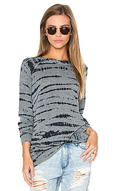 Autumn Cashmere Tie Dye Sweater in Cement Combo