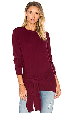 Tie Front Sweater in Pinot