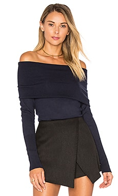 Off Shoulder Sweater in Peacoat