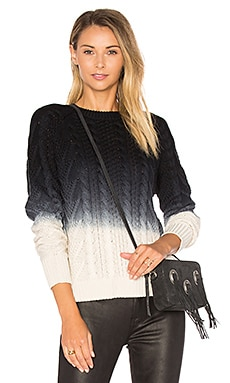 Dip Dye Sweater in Cream & Black