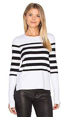 Hi Lo Stripe Sweater